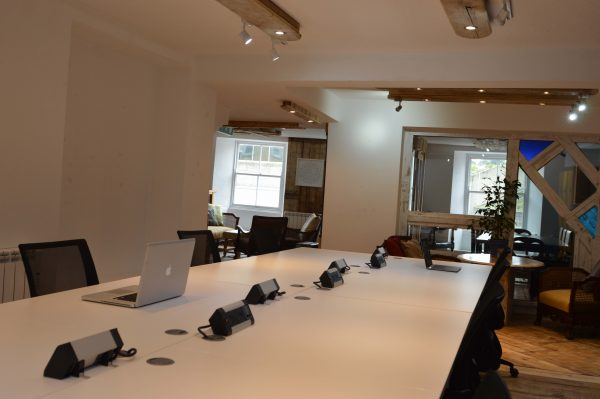 Desk rental shared space at Lily's of Truro, Cornwall